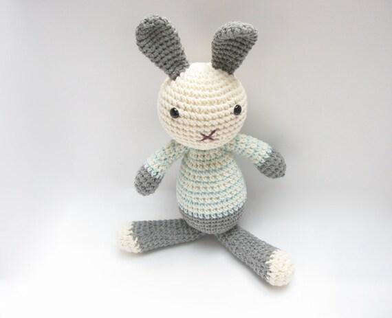 Etsy Amigurumi Bunny : Soft Bunny Toy Amigurumi Crochet Stuffed Plush by cherrytime