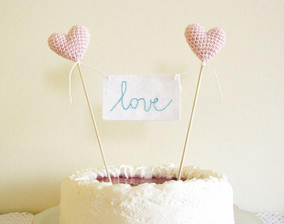Wedding Cake Topper, Love Cake Topper, Love Sign Cake Topper, Pink Wedding Decor