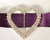 1 Rhinestone Brooch , Flower Rhinestone, Heart Buckle, Wedding Buckle 9070