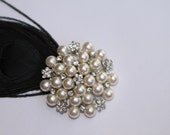 4 Big Pearl Rhinestone Buttons (Reserved+++++++)