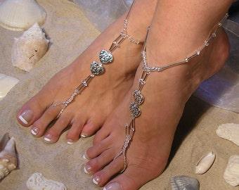 Barefoot Sandals-Beach Wedding-Barefoot Sandal Wedding-Bridal Barefoot Sandal- Beach Wedding Sandal-Heart Barefoot Sandal The Yvette HF3