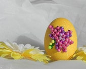 Yellow Beaded Easter Egg