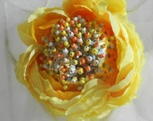 Yellow Rose Decorative Ball 3.5 inches