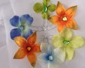 Flower Rhinestone PaperClip Bookmarks