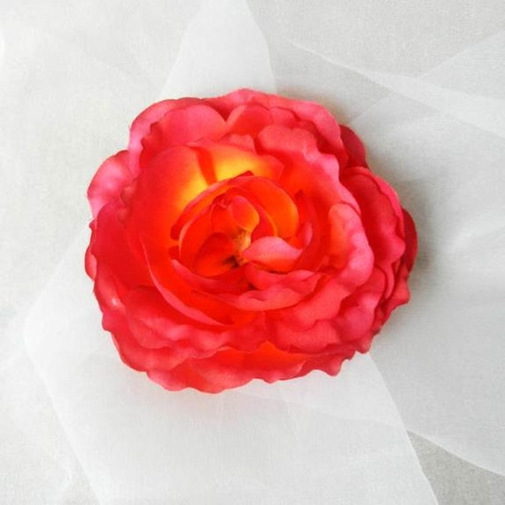 Orange Pink Silk Rose Flower Diy supplies black friday cyber monday