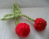 10 Handmade Crochet cherry Appliques Sewing Bow