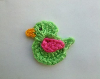 Crochet Little bird Applique Handmade for scrapbooking/ flat back/ trim/ embellish