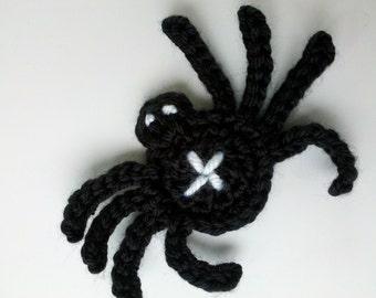 Halloween Sale Crochet spider Halloween set Applique Handmade for scrapbooking trim sewing flatback