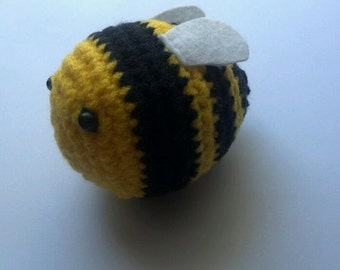 Bumble Bee Amigurumi Crochet Plush Toy Buzz Bee Amigurumi cute for decoration