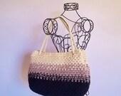 Ombre Tote Bag-PDF Crochet pattern.  Purse, bag, tote.