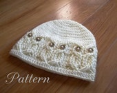 Crochet PATTERN-It's a Hoot -Owl Hat.  Adult, baby and toddler/child sizes.  Cute, fun and stylish, make one today.