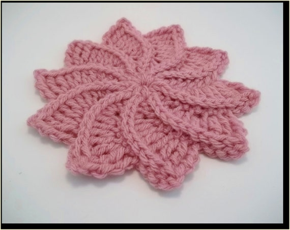 Twirlagig Spiral Flower PDF Crochet Pattern-Instant Download