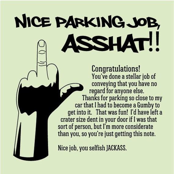 Sticky Notes for Boys - Parking Lot Revenge