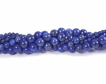 Natural Lapis Lazuli 6mm Smooth Round Beads - Full Strand