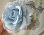 SALE Ona Rose Hair Flower Comb Blue Rose Woodland wedding hair, hair accessory, resort