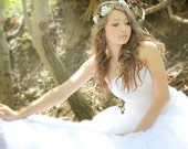 Flower Crown, Flower Adornment, Bridal Headpiece, Wedding headpiece, Destination Wedding, Flower Head Wreath, Rustic Wedding, Floral Crown