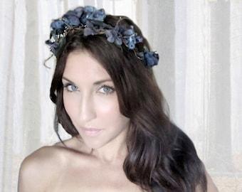CORPSE BRIDE, Witch,  Flower Crown, Halloween, witch, black, tiara, zombie, Headband, hair accessories