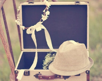 Wedding Crown, FLower Crown, ivory,woodland, DeLoop - Annabelle by DeLoop