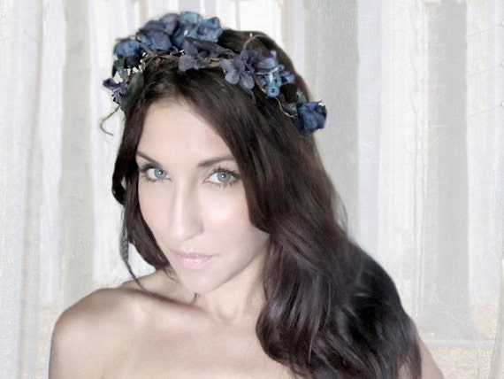 CORPSE BRIDE, Witch,  Flower Crown, Halloween, witch, black, tiara, zombie, Headband, hair accessories