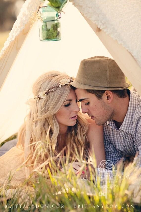 Flower Crown, Flower Adornment, Bridal Headpiece, Wedding headpiece, Destination Wedding, Flower Head Wreath, Rustic Wedding, Floral Crown