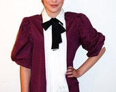 Houndstooth Vintage Bow tie Blouse