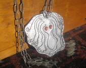 Vintage Crazy Squid - Cast Metal Pendant Necklace