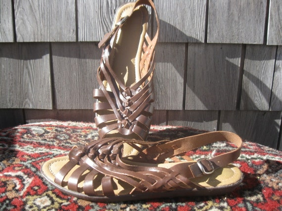 Dexter Gladiator Woven Leather Sandals 11M