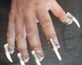 handmade boneclaw rings set of 5 adult jewelry