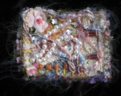 ONE OF A KIND Handmade Recycled Wearable Fiber Art PENDANT Pin Brooch INCHIE