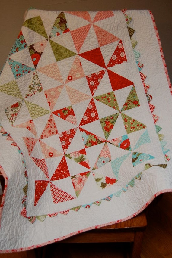 Sale Pinwheel Baby Quilt Great Play Mat And By Dragonflyrealm