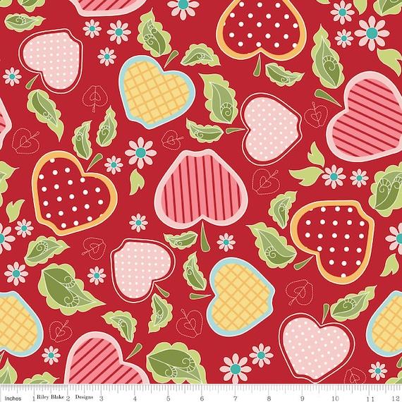 Reserved for wendyyates1 Apple of my Eye Red Baskets- 3 yards and Apple of my Eye Blue Apple Baskets- 2 yards  Riley Blake Designs