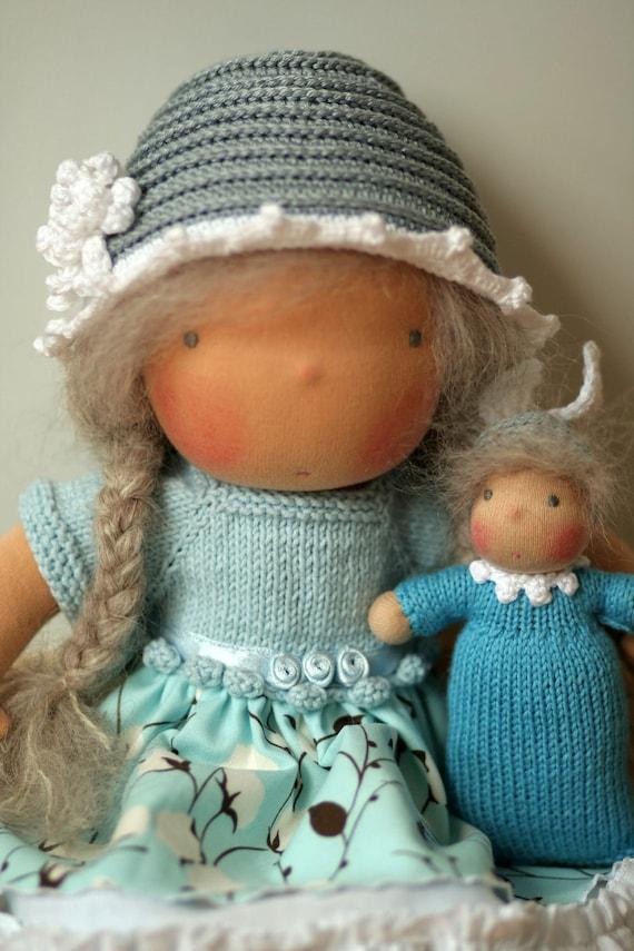 "Organic Waldorf inspired doll 12""-custom order for ashleytyler2- FINAL payment"