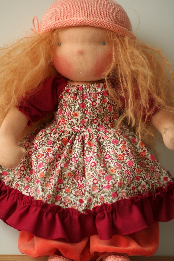 Organic Waldorf doll Josephine-16 inch-RESERVED for Tammy-FINAL PAYMENT