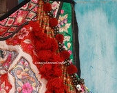 Luxury Lanna Tribal Pompom Bag Charm