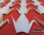 6 inches white cranes (25 pieces)