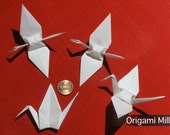4 inches white cranes (100 pieces)