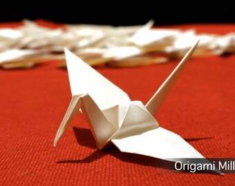 3 inches white cranes (25 pieces)