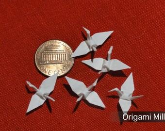 1 inch white cranes (100 pieces)