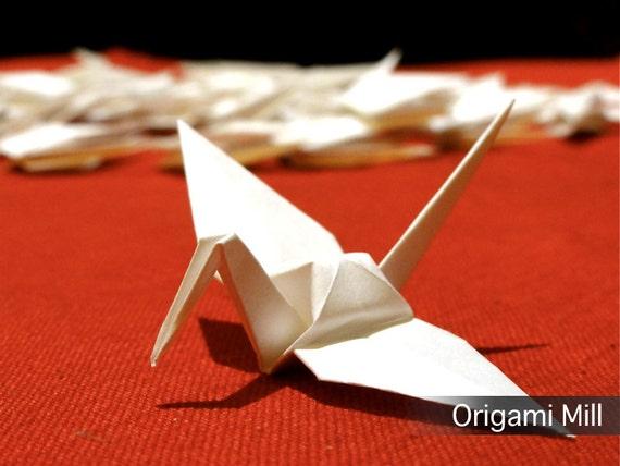 3 inches white cranes (100 pieces)