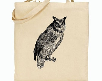 Eco Friendly Canvas Tote Bag - Reusable Grocery Bags - Unique Images - Owl - Stronger Bags