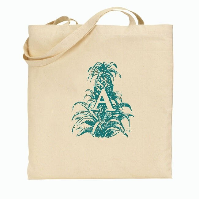 Wedding Gift Bag Letter : Bridesmaid Gift Bags - Welcome Bags for Wedding - Botanical Letters