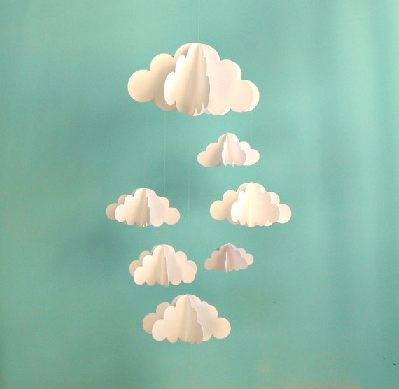 Cloud Baby Mobile Hanging Baby Mobile 3d Paper Mobile