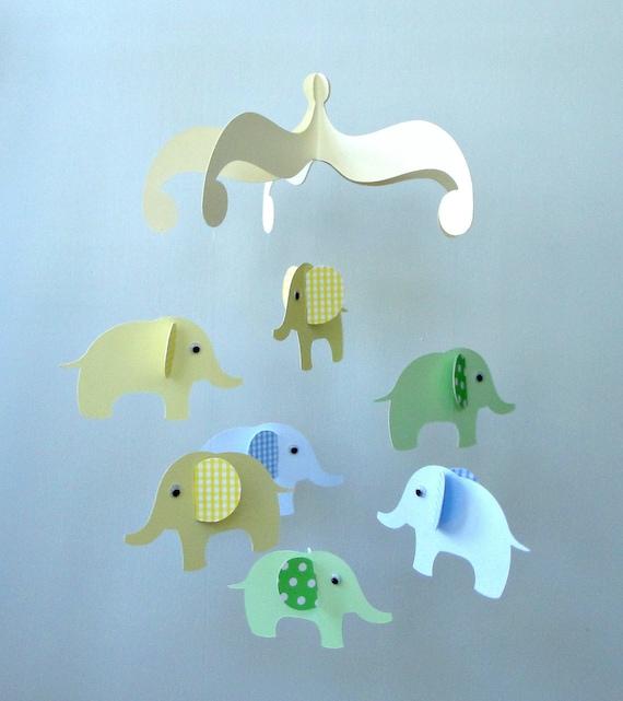 Elephant Baby Mobile/ Hanging Nursery Mobile
