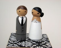 peg doll wedding cake toppers uk popular items for peg on etsy 18184
