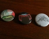 "Arcade Fire 1.5"" Pinback Buttons Set of Three"