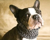 Dog Cowl - The Howl at the Moon scarf for dogs / size small / hand knit