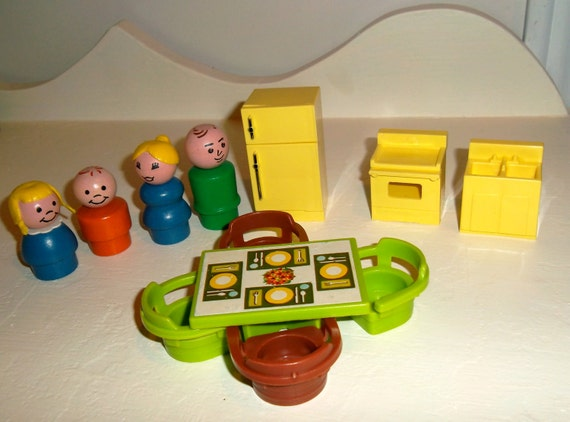 Fisher Price Play Family House Kitchen Set By Littlecityvintage