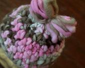 Handspun Merino Wool Newborn Girl Crochet Bow Hat - Ready to ship