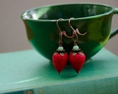 RESERVED So Berry Cute Earrings