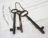 Three Large Vintage Keys